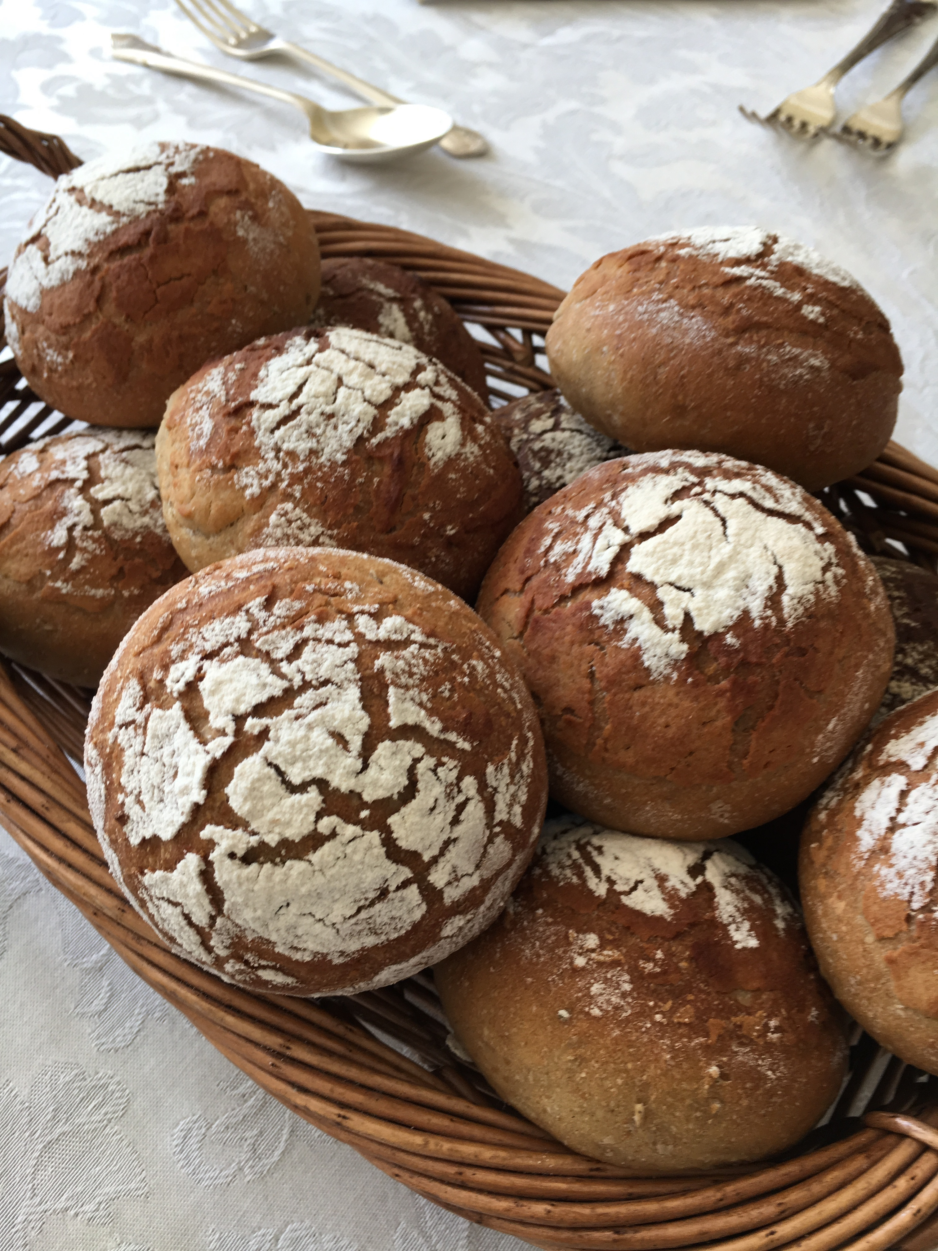 Dark Rye and Fennel Loaf or 12 Dark Rye Crusty Dinner Rolls