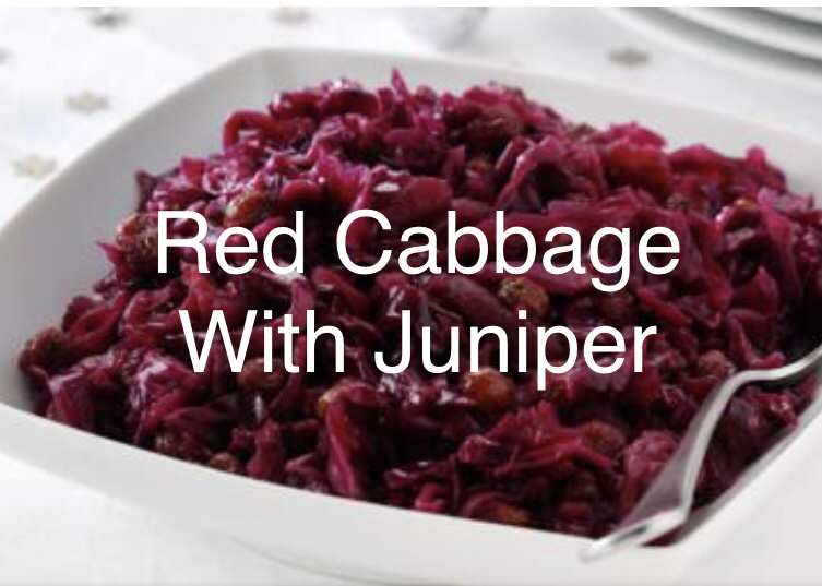 Braised Red Cabbage with Juniper
