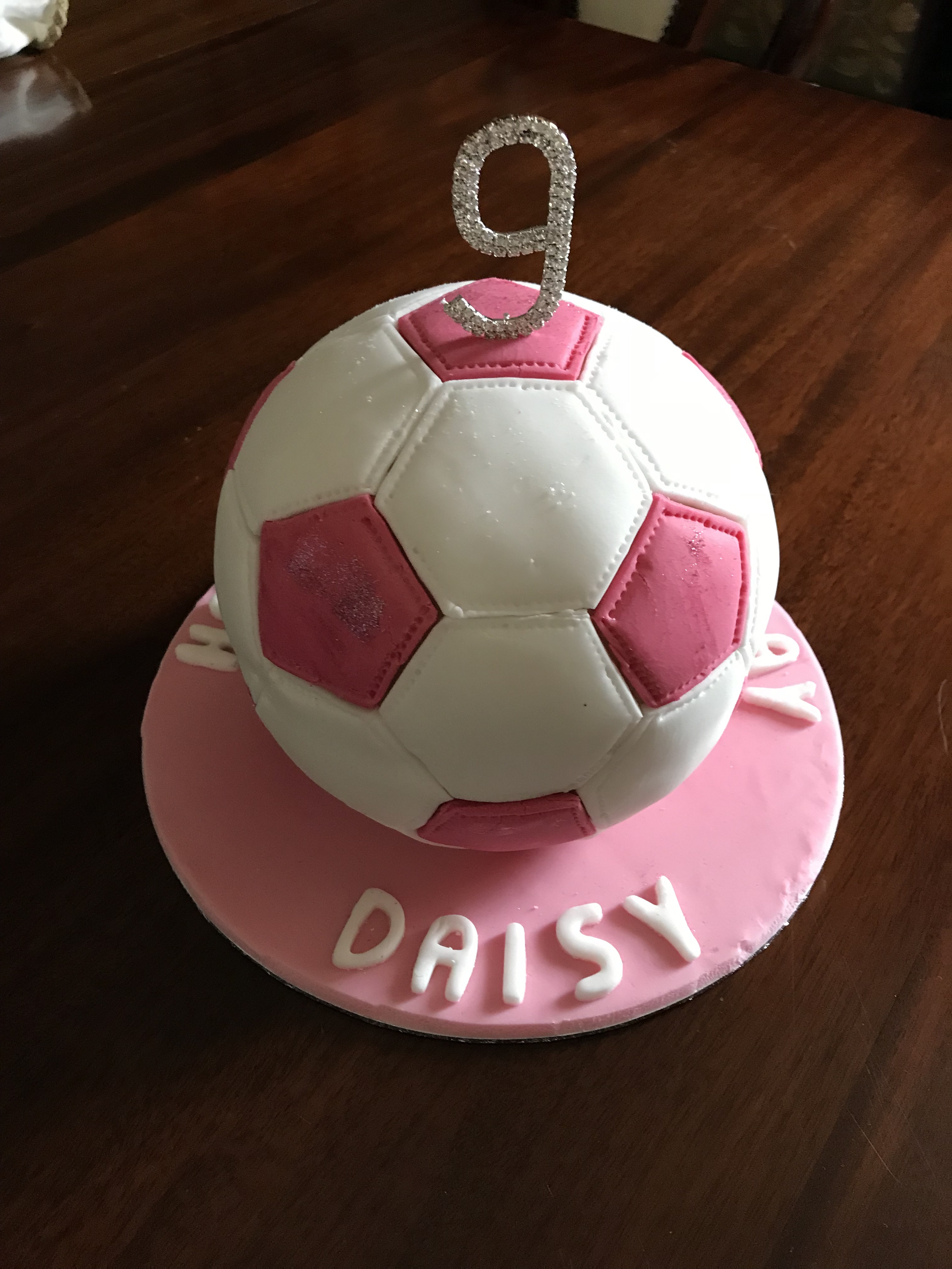Football Pinata Cake -Raspberry and Almond