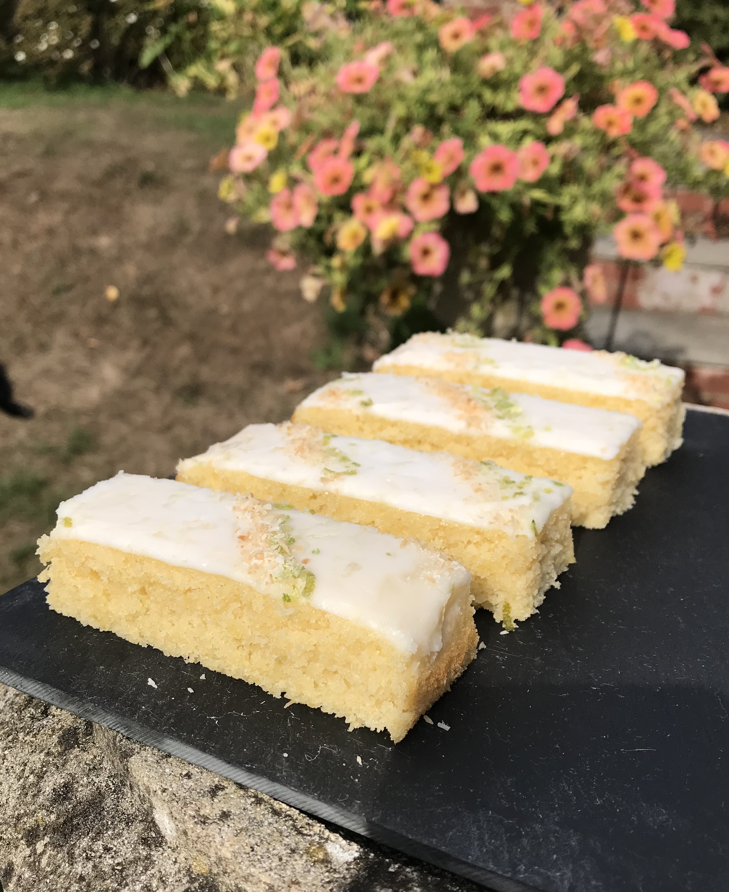 Coconut and Lime Traybake