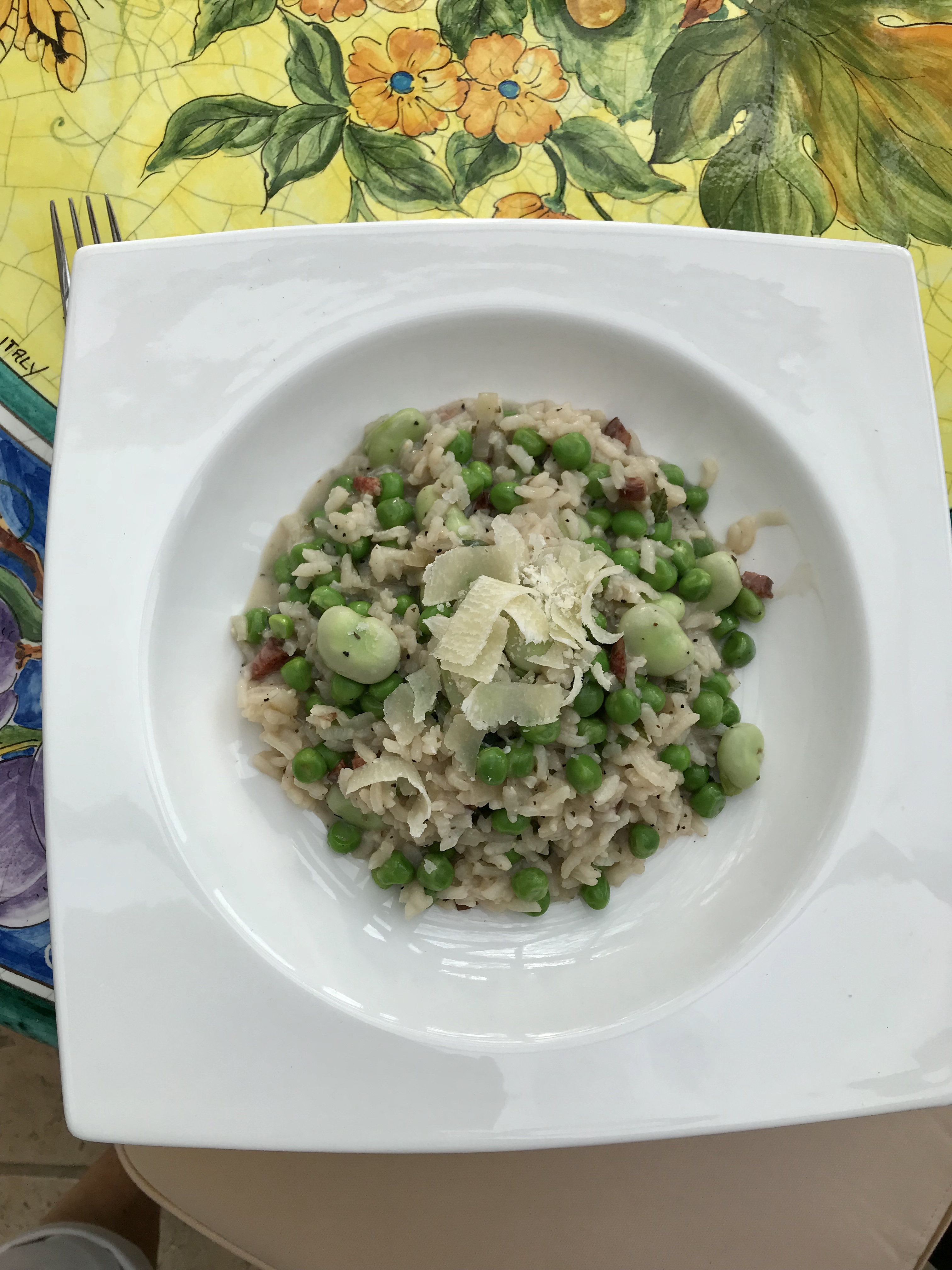 Pea and Bean Risotto