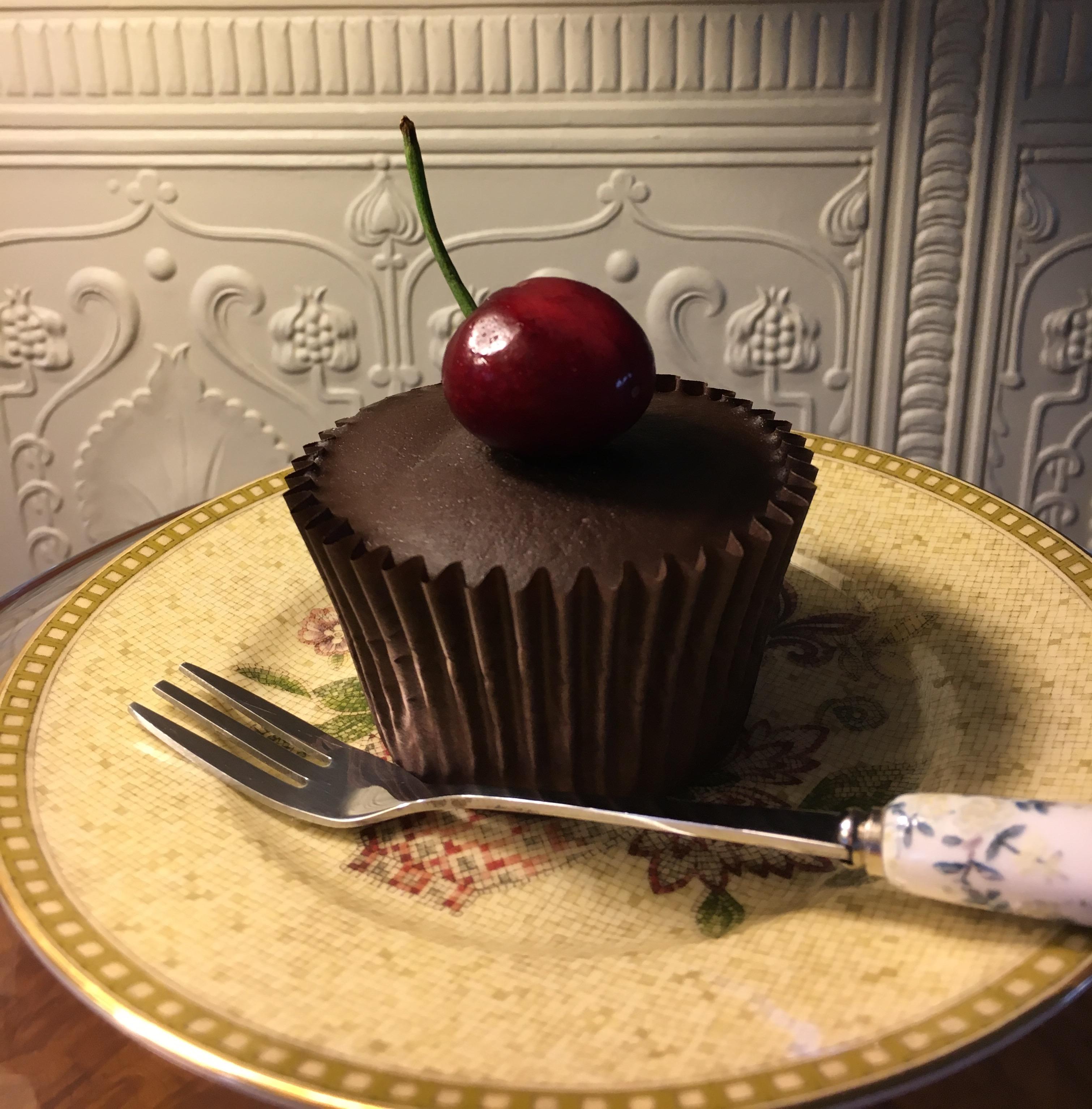 Cherry Chocolate Cupcakes