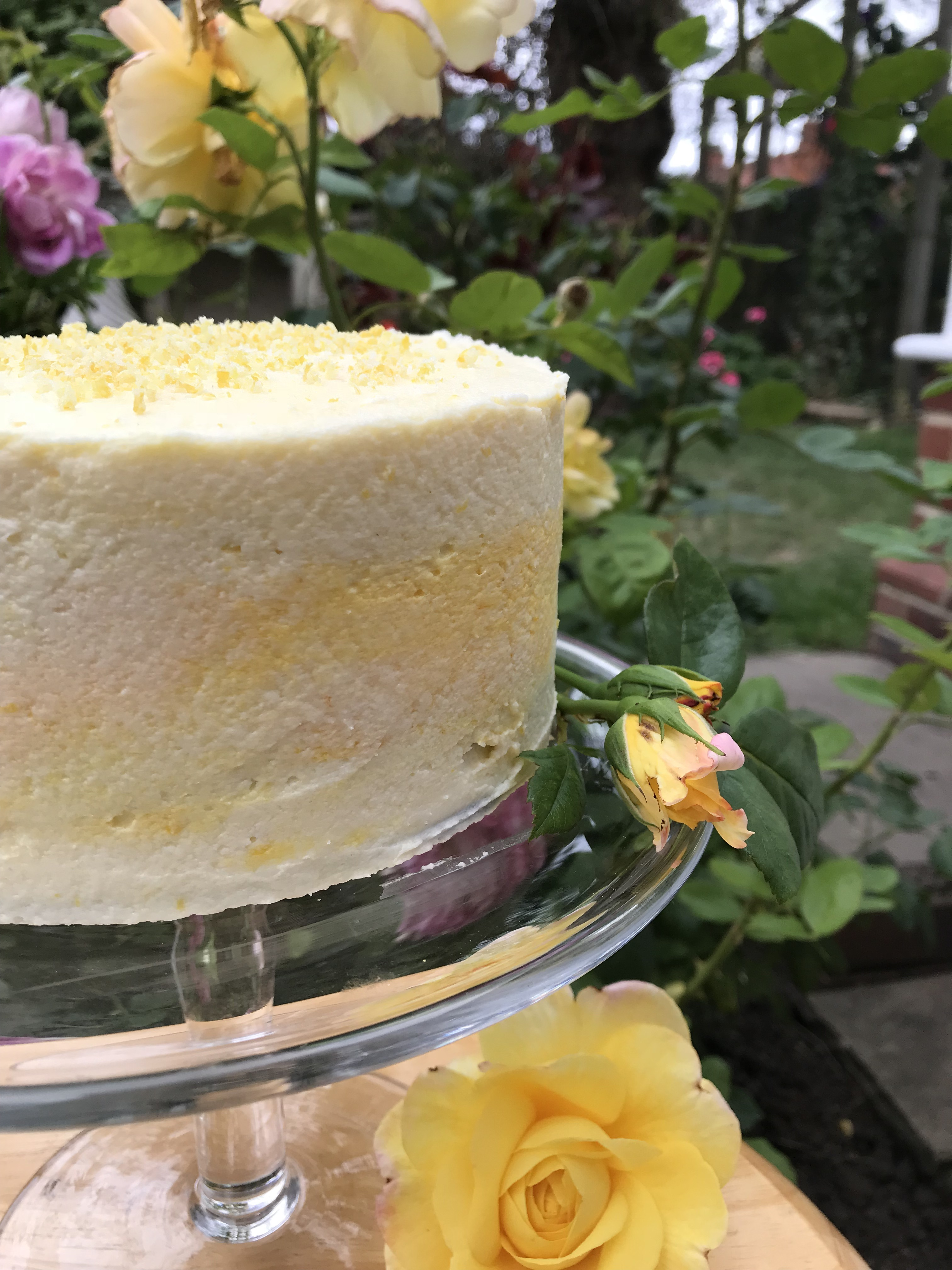 Lemon and Elderflower Cake with a not too sweet frosting