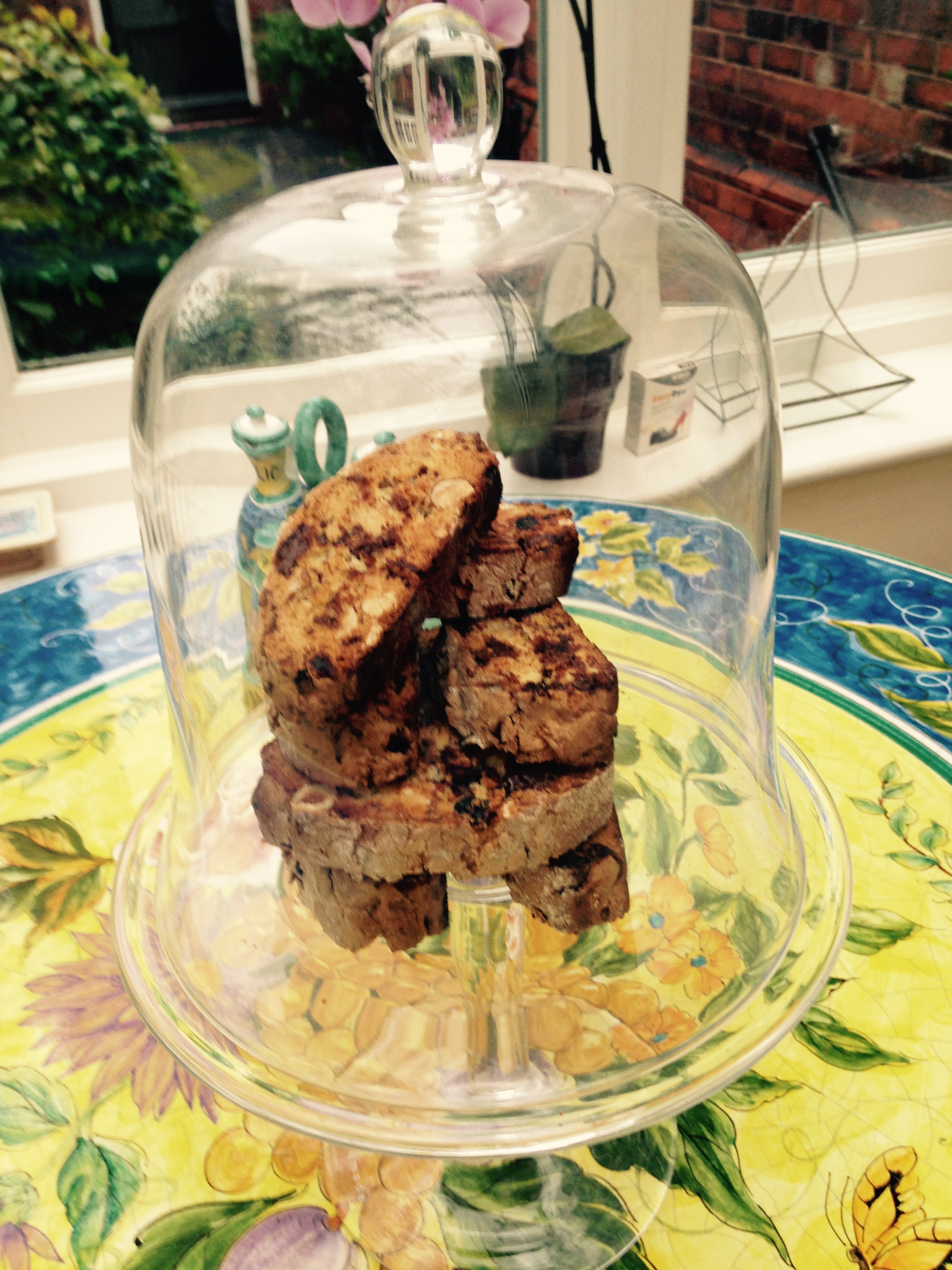 Cherry, Chocolate and Almond Baby Biscotti