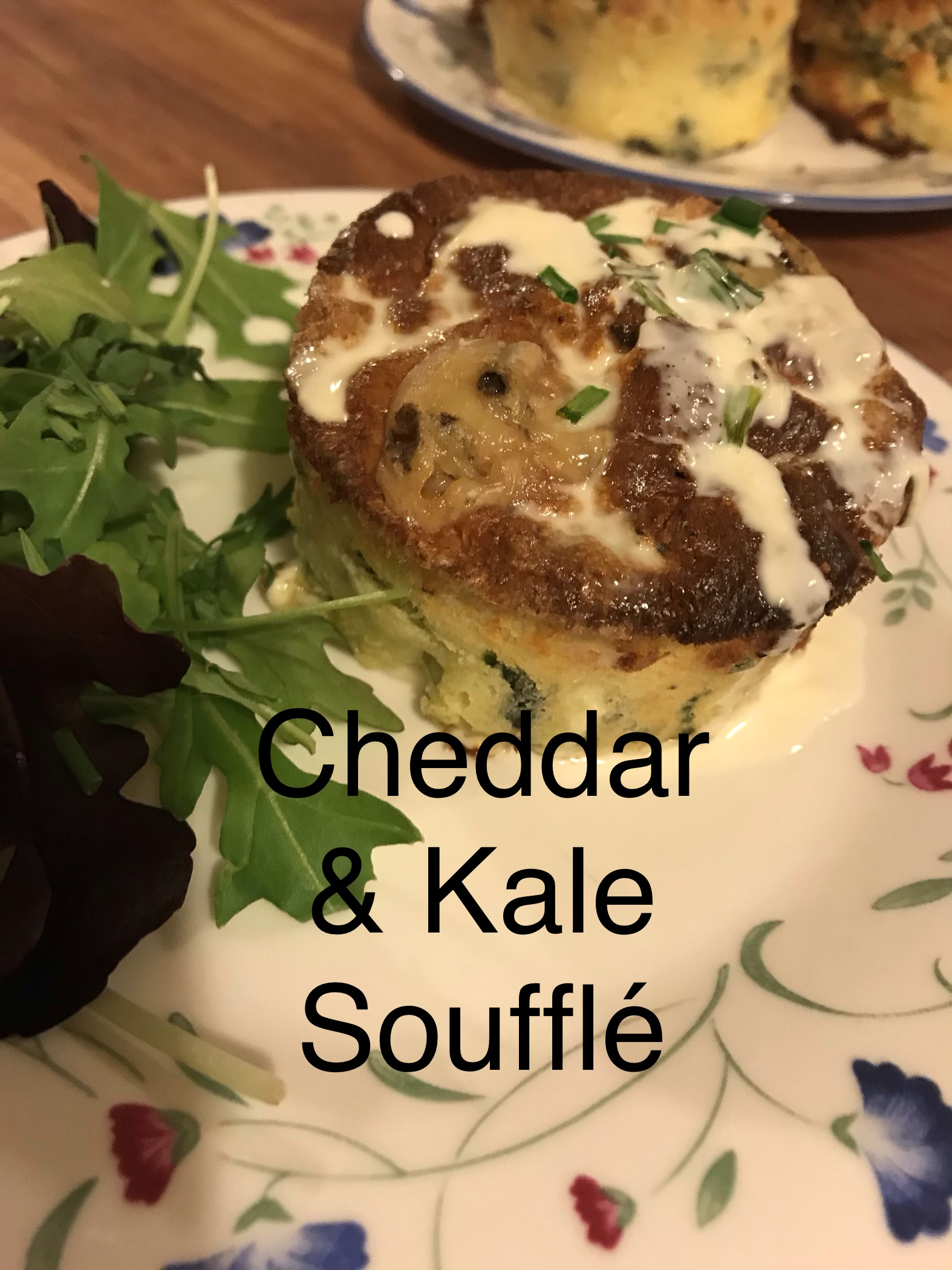 Cheddar and Kale Souflees