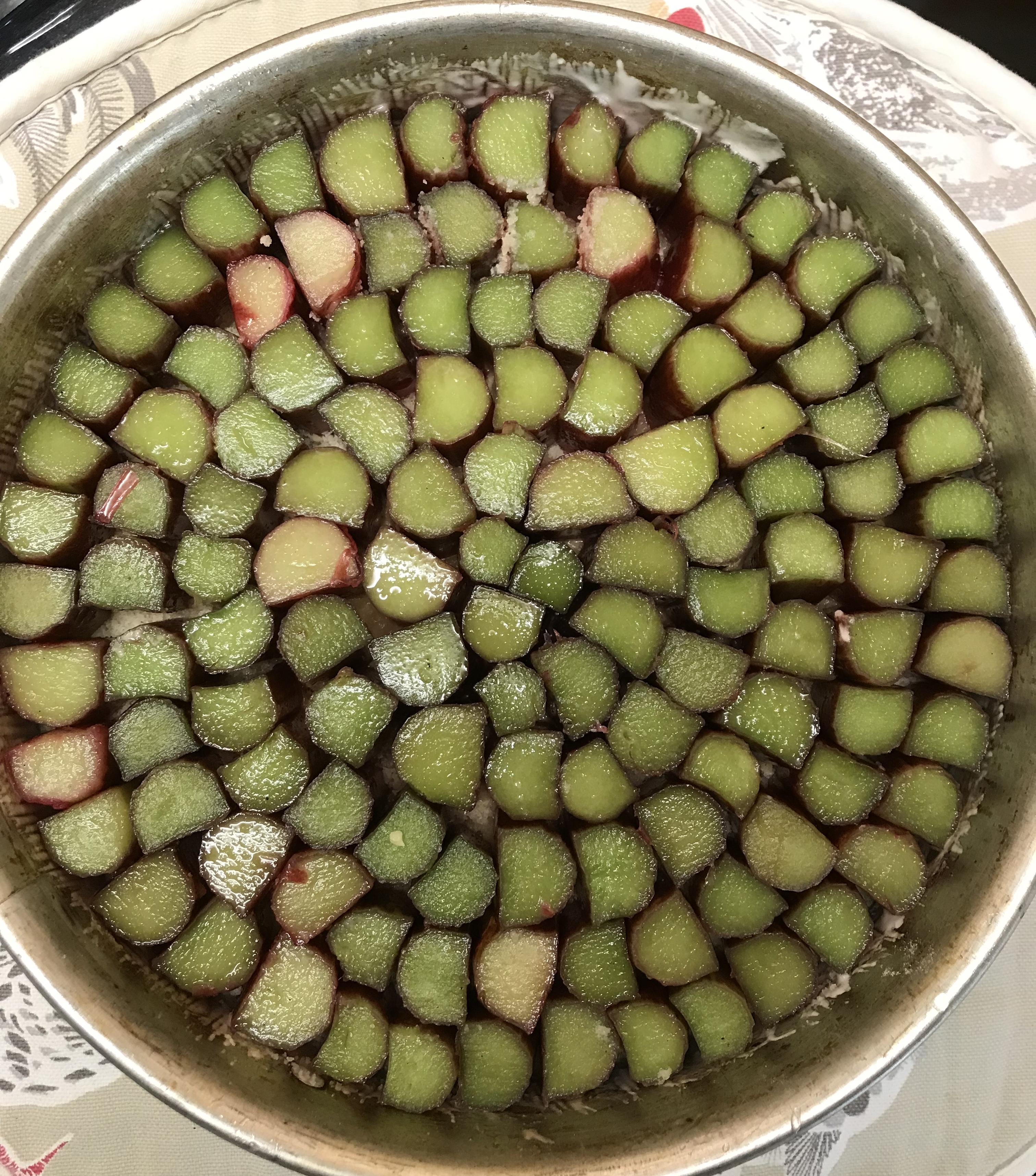Glazed Rhubarb and Ginger Tart