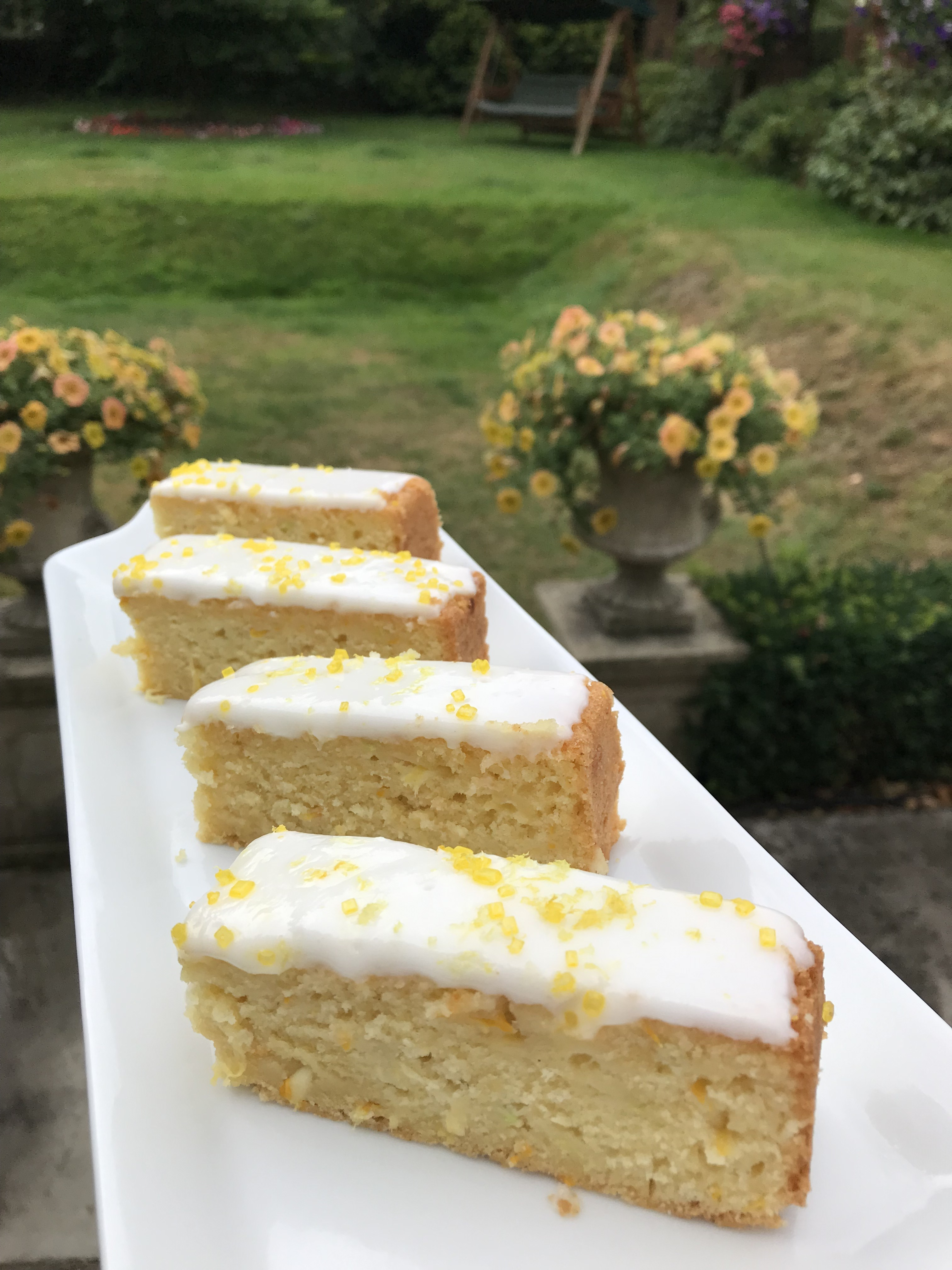 Lemon Yellow or Lime Green Courgette Cake